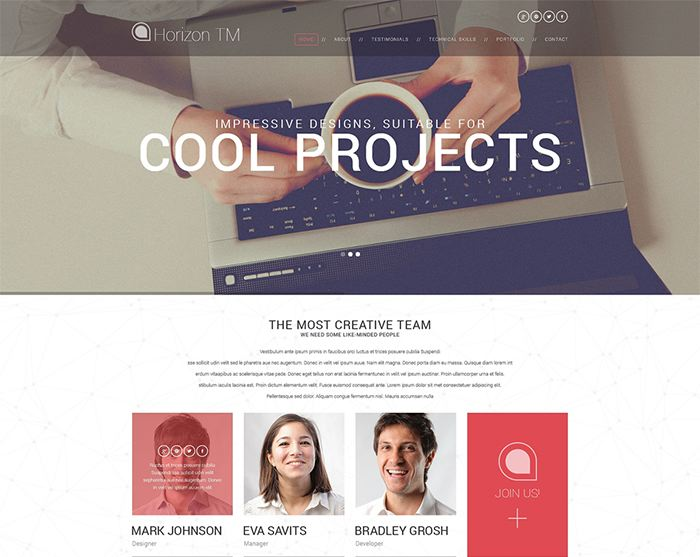 Web Design CV WordPress Theme