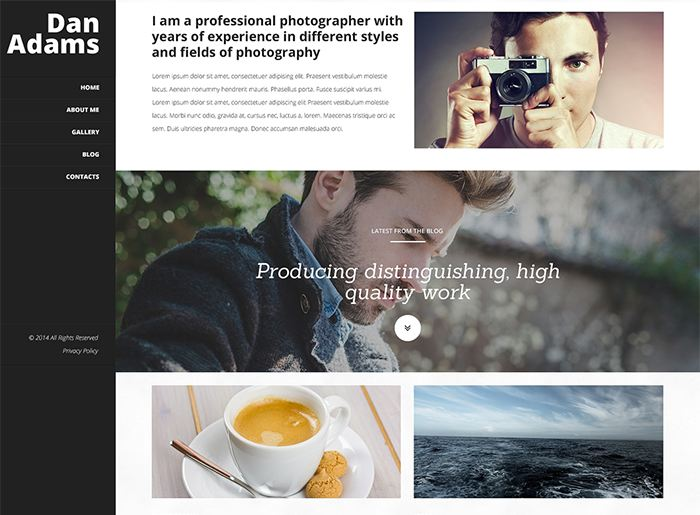 Photography Online Portfolio WordPress Theme