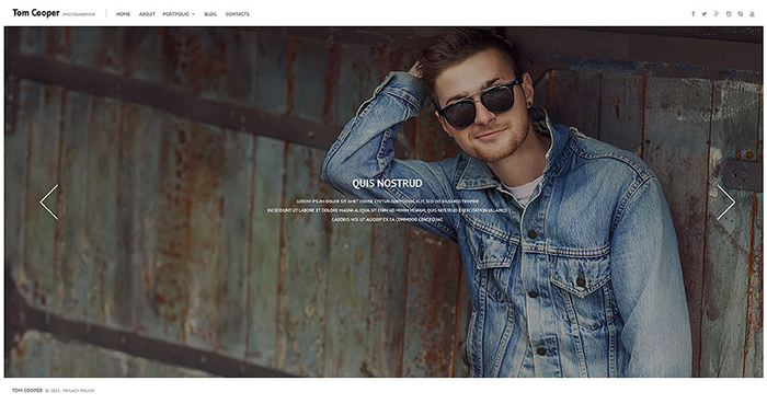 Photographer WordPress Template