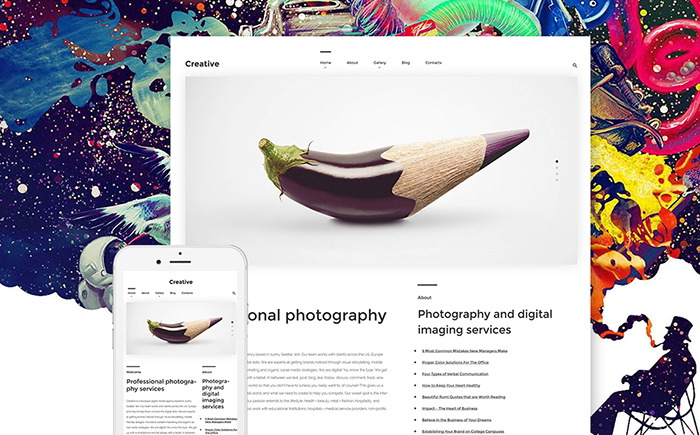 Art Photography WordPress Theme