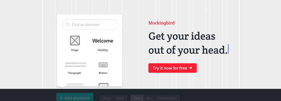 Mockingbird - Wireframe and UX Tool